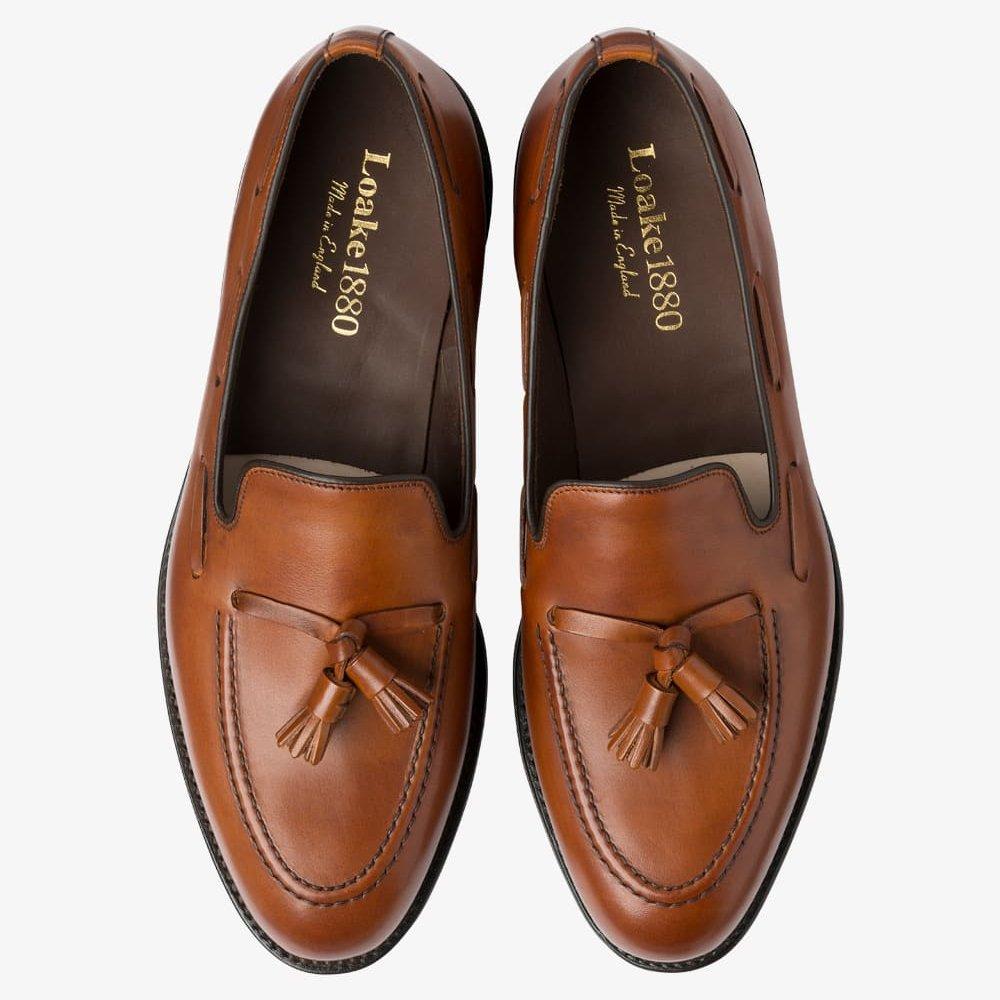 Loake Russell mahogany tassel loafers