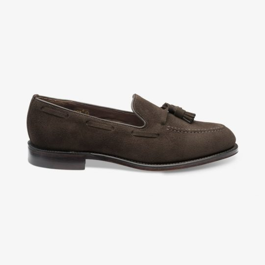 Loake Russell chocolate brown tassel loafers