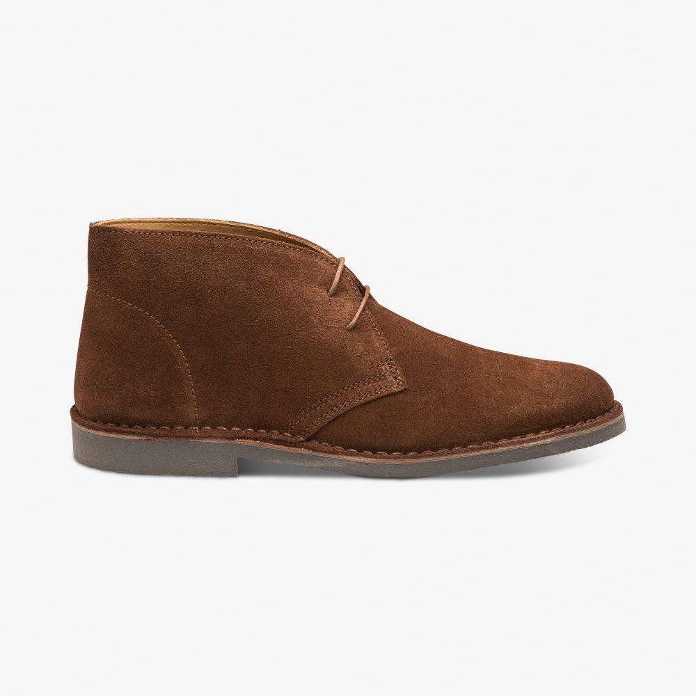 Loake Sahara suede dark brown desert boots