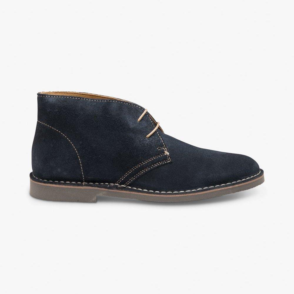 Loake Sahara suede navy desert boots