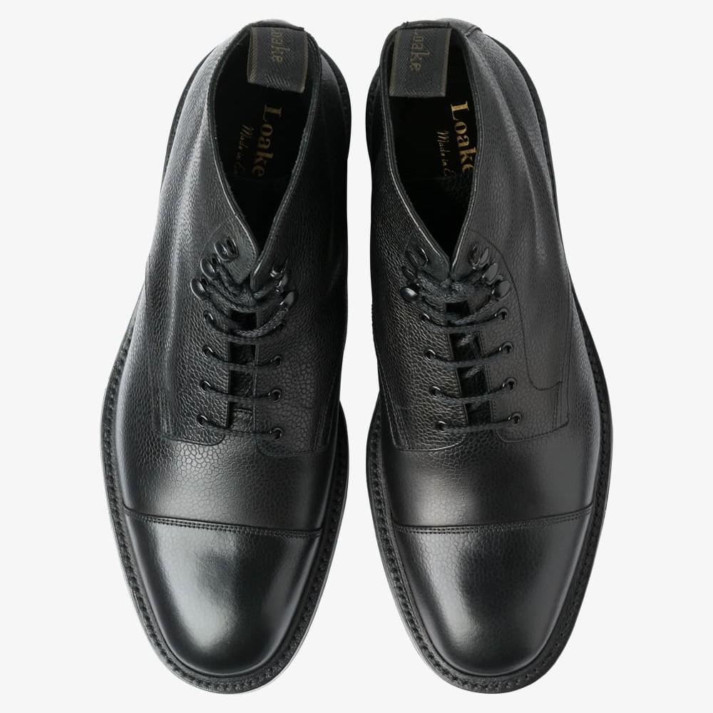 Sedbergh black toe cap boots
