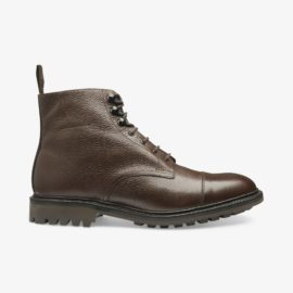 Sedbergh dark brown toe cap boots