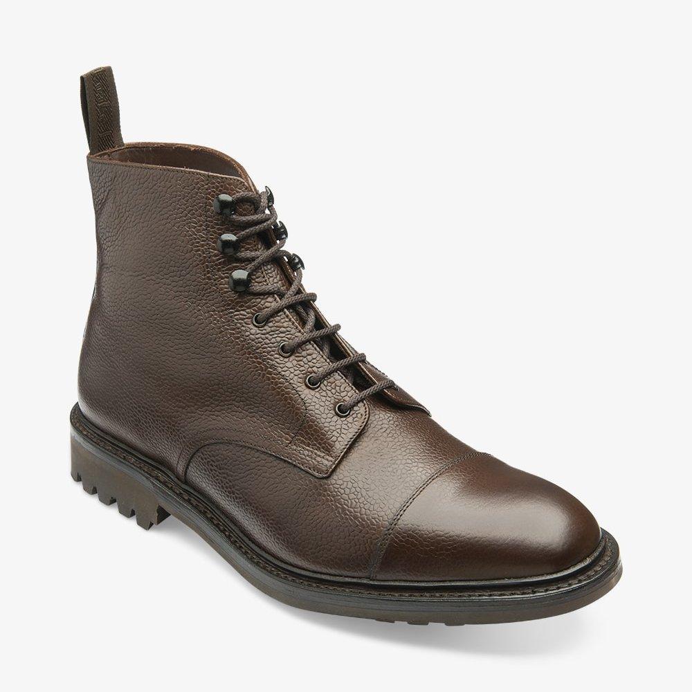 Sedbergh dark brown toe cap boots