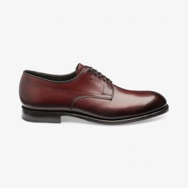 Loake Stubbs burgundy derby shoes