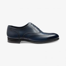 Loake Torrington antique blue brogue oxford shoes