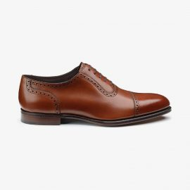 Loake Trinity deep mahogany brogue oxford shoes