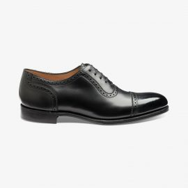 Loake Trinity onyx black brogue oxford shoes