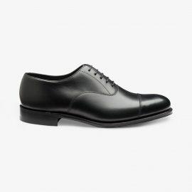 Loake Wadham black toe cap oxford shoes