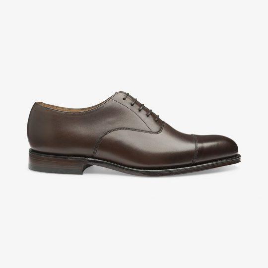 Loake Wadham dark brown toe cap oxford shoes