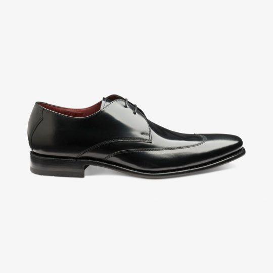 Loake Webster polished leather black brogue derby shoes
