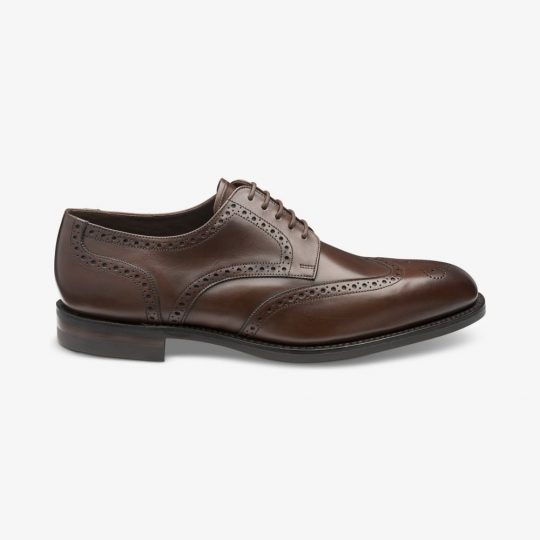 Loake Wembley dark brown brogue derby shoes