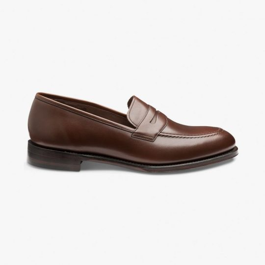 Loake Whitehall dark brown penny loafers