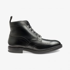 Loake wolf black brogue boots