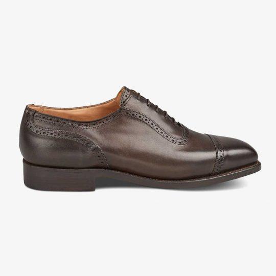 Tricker's Belgrave espresso burnished brogue oxford shoes