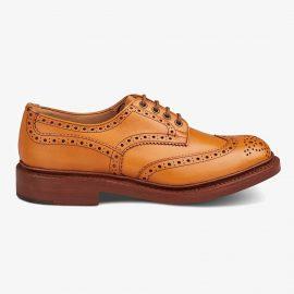 Tricker's Bourton acorn antique brogue derby shoes
