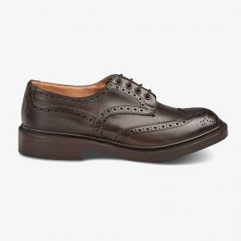 Tricker's Bourton espresso burnished brogue derby shoes