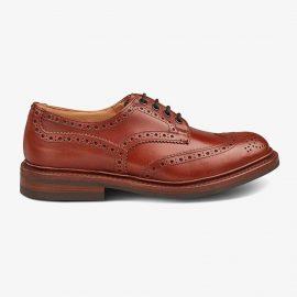 Tricker's Bourton marron antique brogue derby shoes