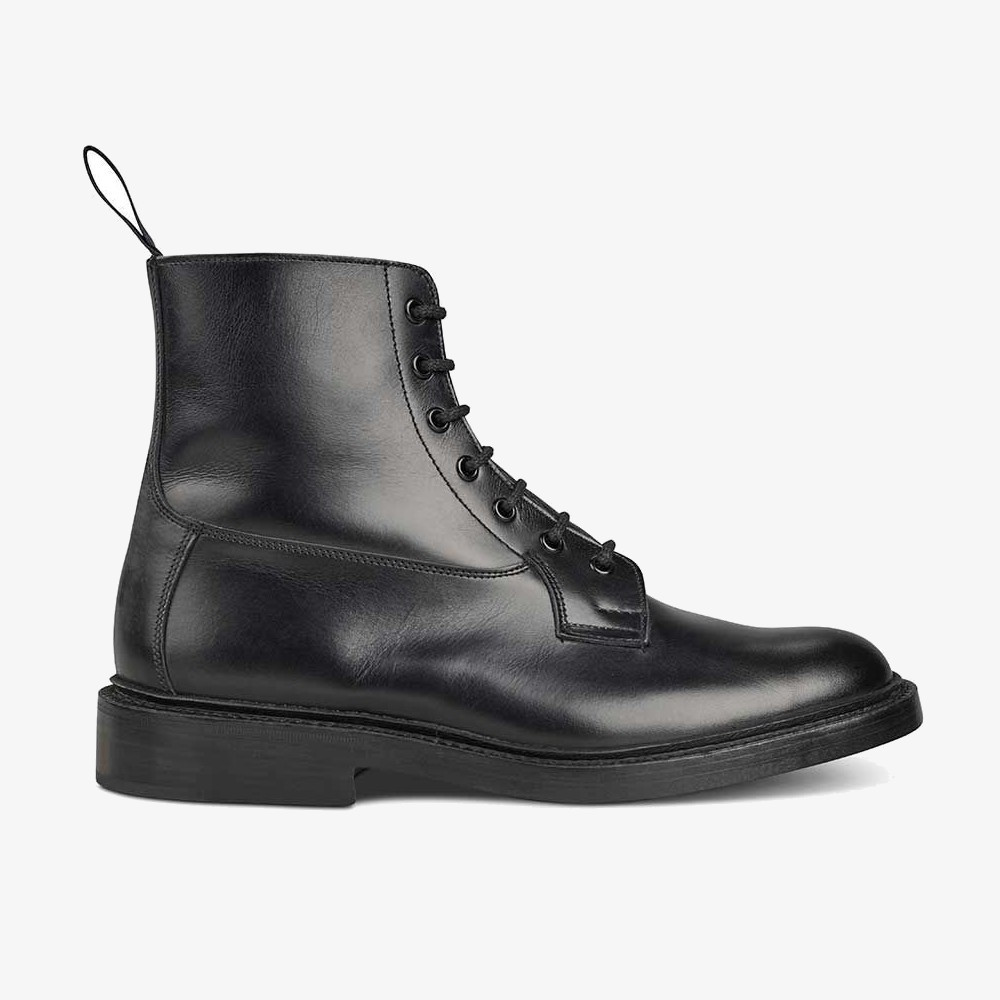 Tricker's Burford black lace-up boots