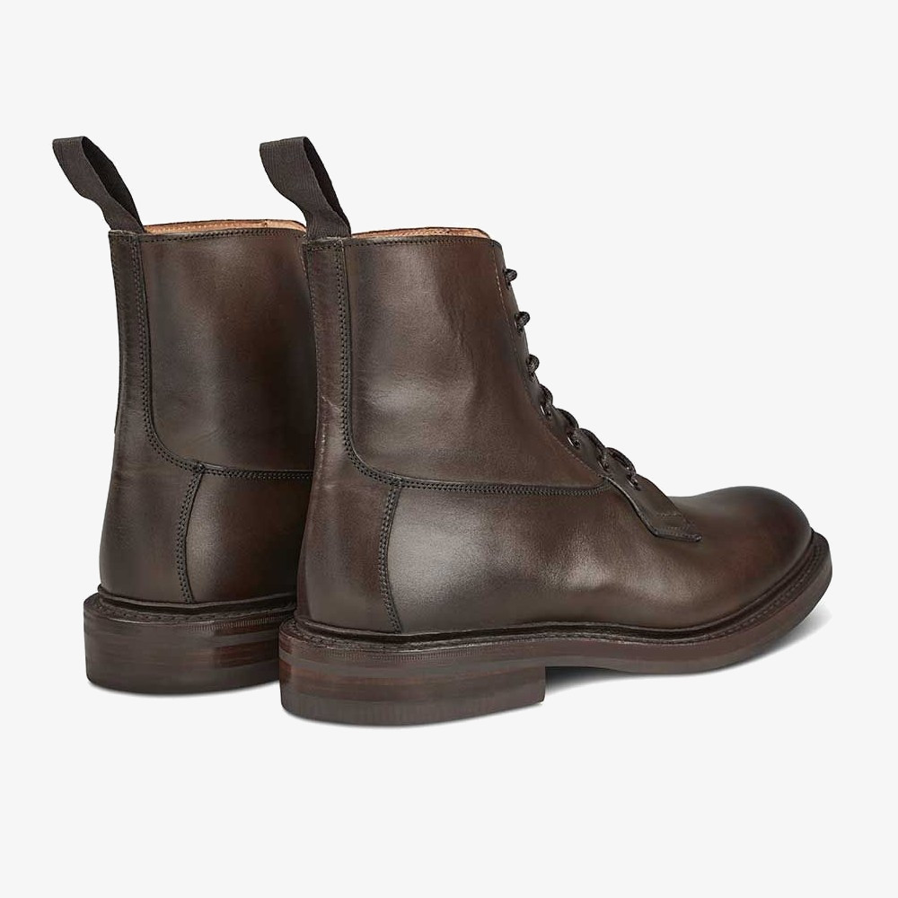 Tricker's Burford espresso burnished lace-up boots