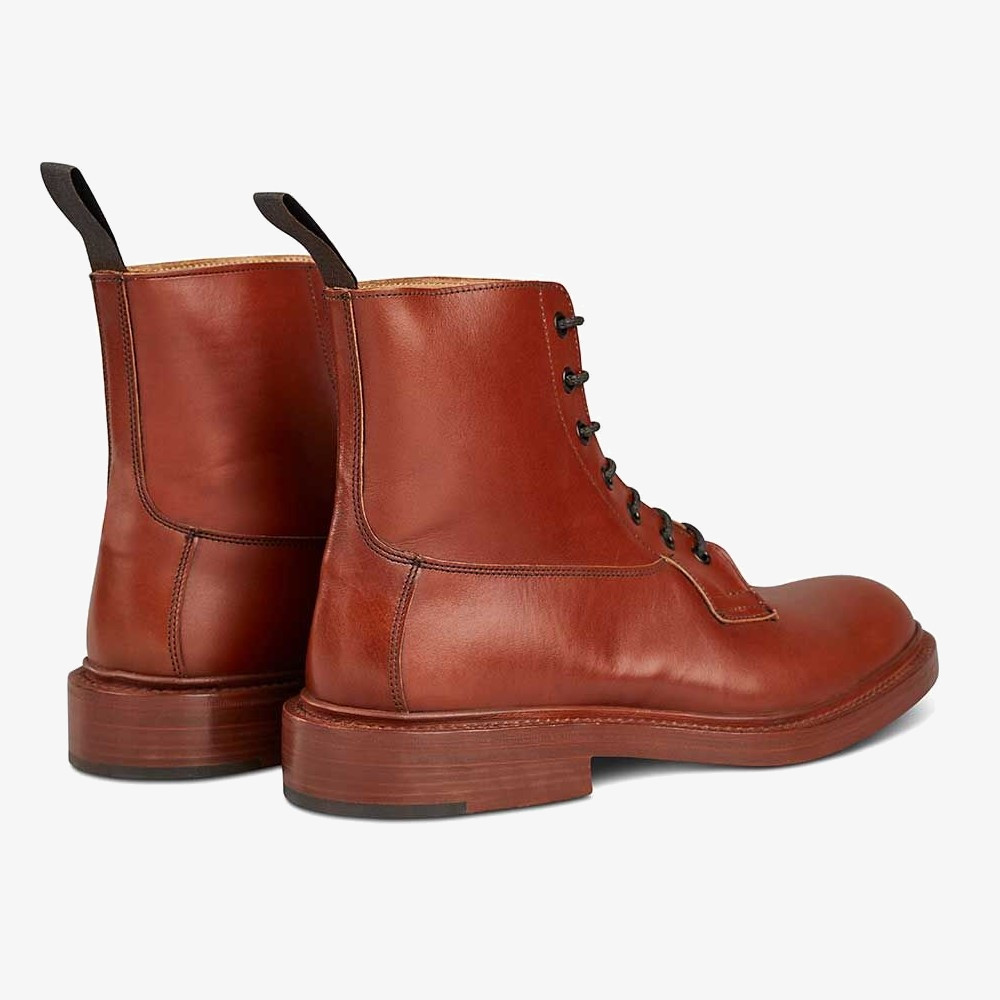 Tricker's Burford marron antique lace-up boots