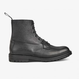 Tricker's Grassmere black lace up toe cap boots