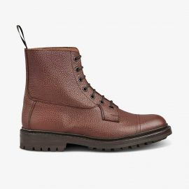 Tricker's Grassmere brown zug grain lace up toe cap boots