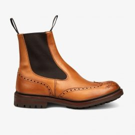 Tricker's Burford 1001 burnished brogue Chelsea boots