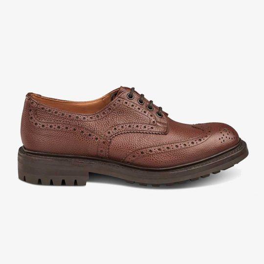 Tricker's Ikley brown zug grain brogue derby shoes