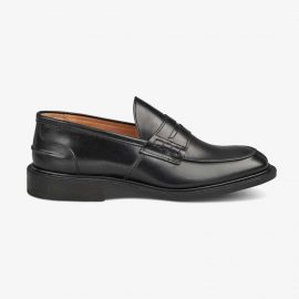 Tricker's James black penny loafers