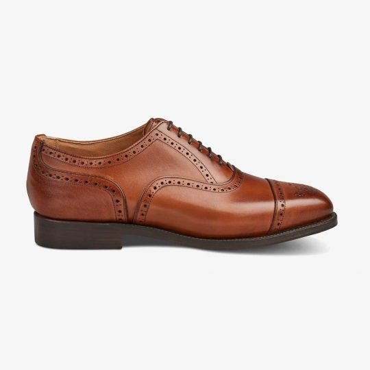 Tricker's Kensington beechnut burnished brogue oxford shoes