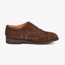 Tricker's Kensington suede chocolate brogue oxford shoes