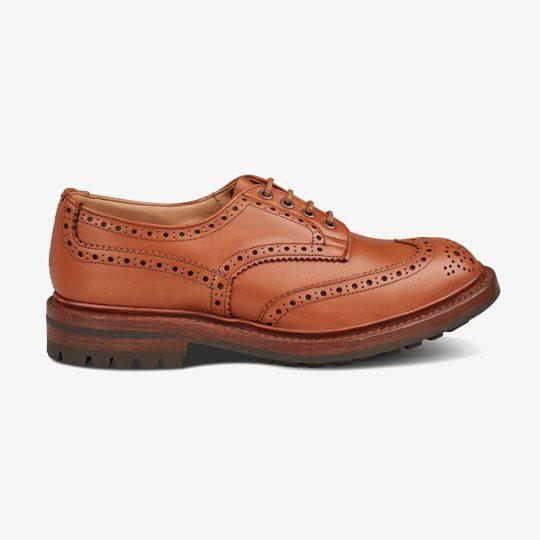 Tricker's Keswick c shade tan brogue derby shoes
