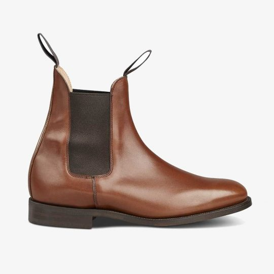 Tricker's Lambourn beechnut burnished Chelsea boots