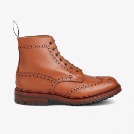 Tricker's Malton c shade tan lace up brogue boots