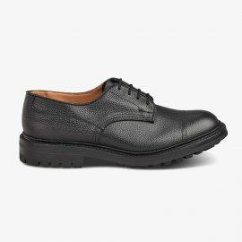 Tricker's Matlock black toe cap derby shoes