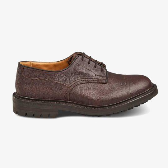 Tricker's Matlock brown zug grain toe cap derby shoes
