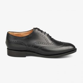 Tricker's Norfolk black brogue oxford shoes