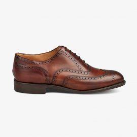 Tricker's Norfolk chestnut burnished brogue oxford shoes