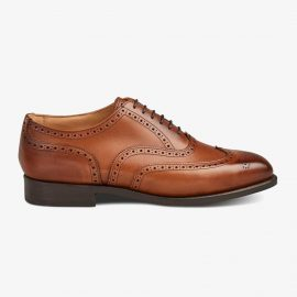 Tricker's Piccadilly beechnut burnished brogue oxford shoes