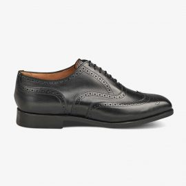 Tricker's Piccadilly black brogue oxford shoes