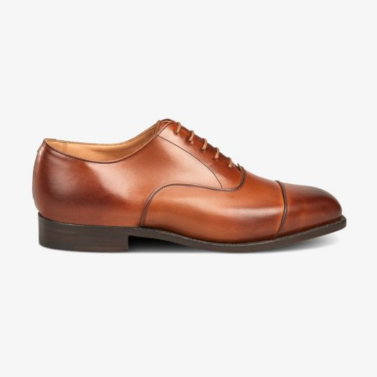 Tricker's Regent beechnut burnished toe cap oxford shoes