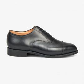 Tricker's Regent black toe cap oxford shoes
