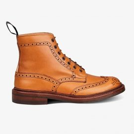 Tricker's Stow acorn antique lace up brogue boots