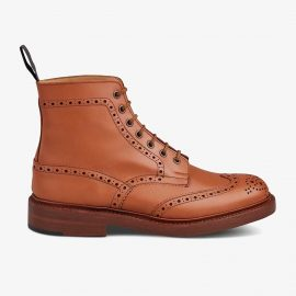 Tricker's Stow c shade tan lace up brogue boots
