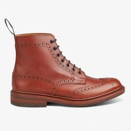Tricker's Stow marron antique lace up brogue boots